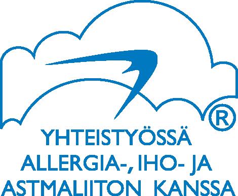 Logo. Yhteistyössä Allergia-, iho- ja astmaliiton kanssa
